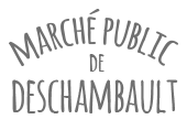 Logo Marché Public de Deschambault | Gravi-T Communication