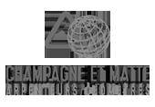 Logo Champagne et Matte | Arpenteurs-Géomètres | Gravi-T Communication